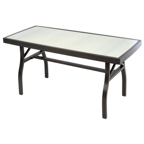 Mesa de jardín baja de aluminio roma blanco de 50.5x48x100 cm
