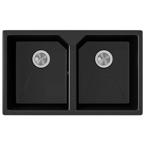 Fregadero 2 senos de cuarzo rectangular interbany lagos plus 81 x 81 cm