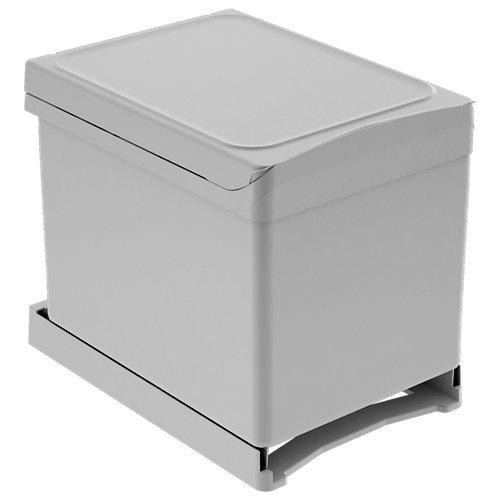 Cubo de basura en kit de 2 x 18 litros 34,3x37,2 cm