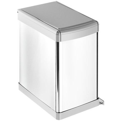 Cubo de basura de 23 litros gris 23x38,6 cm