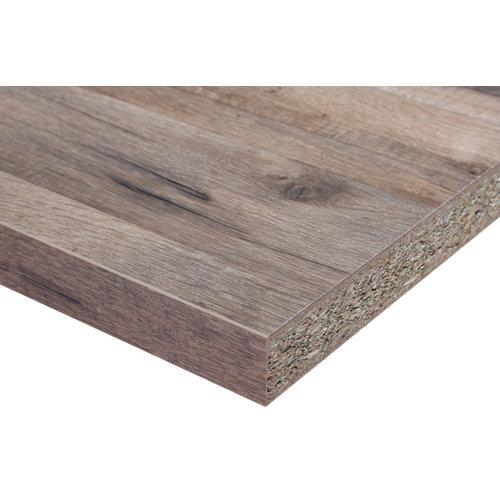 Encimera laminada hidrófuga madera 803 bordes rectos 63 x 180 x 38 mm