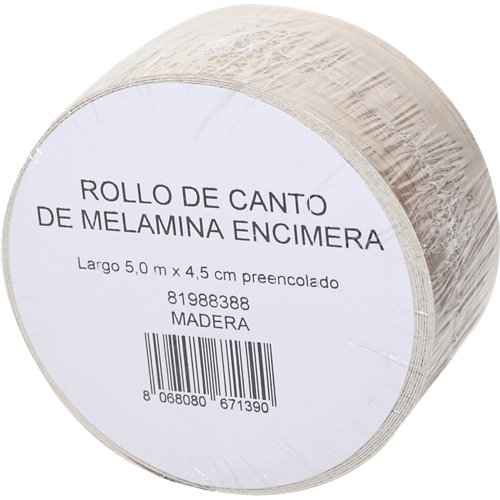 Rollo canto de encimera para cocina aspecto madera color marrón 4,5x500x0,04 cm