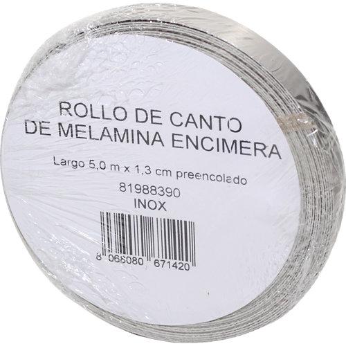 Rollo canto de encimera para cocina aspecto metal 1,3x500x0,04 cm