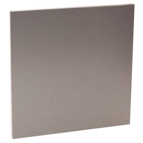 Placa de protección pared inox de 300 x 64 x 0.9 cm