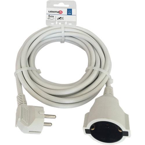 Prolongador de cable lexman blanco h05vv-f 3x1,5 mm² 5 m