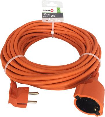Prolongador De Cable Lexman Naranja 3x1 5 Mm 15 M Leroy Merlin
