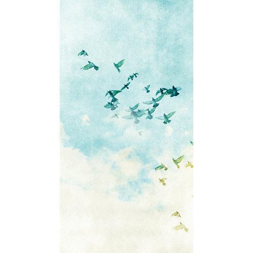 Mural decorativo autoadhesivo flying birds 132x250 cm
