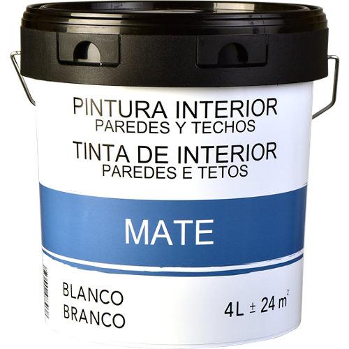 Pintura de interior blanca mate 4l