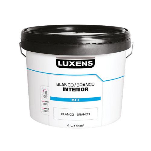 Pintura de interior luxens basic blanco mate 4l