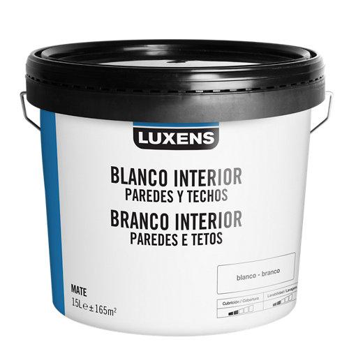 Pintura de interior luxens basic blanco mate 15l