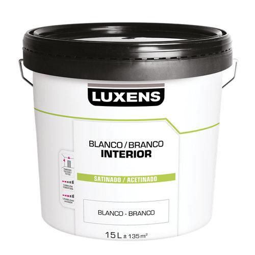 Pintura de interior luxens basic blanco satinado 15l