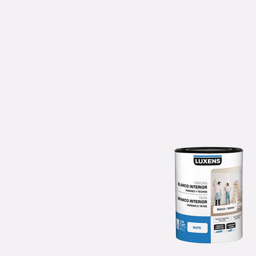 Pintura de interior luxens blanco mate 0,75l