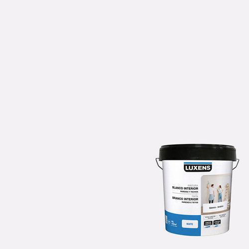 Pintura interior paredes y techos luxens mate 15l blanco