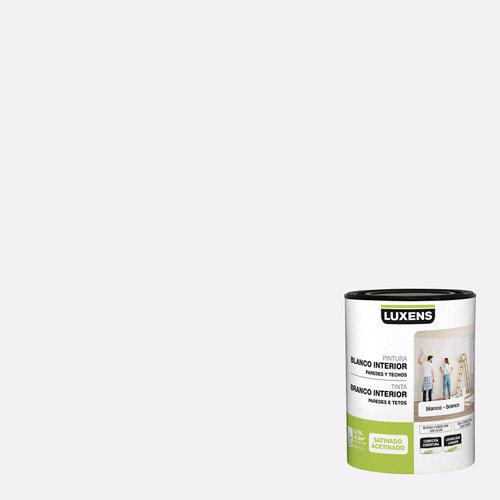Pintura de interior luxens blanco satinado 0,75l