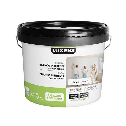 Pintura de interior luxens blanco satinado 4l
