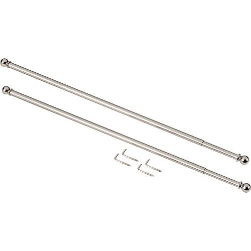 2 portavisillos ø 7 mm cromo de 30-40 cm