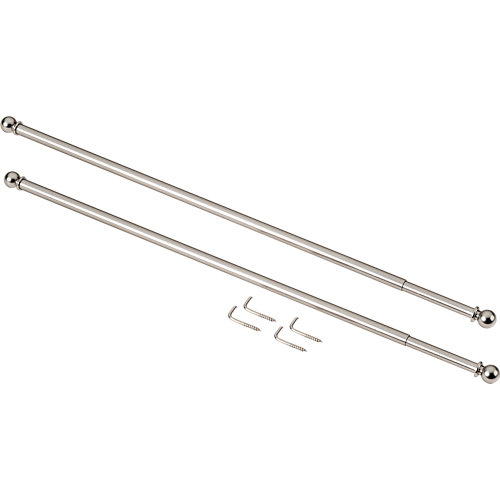 2 portavisillos ø 7 mm cromo de 40-60 cm