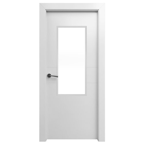 Puerta abatible vilna blanca apertura dcha de 72,5 cm
