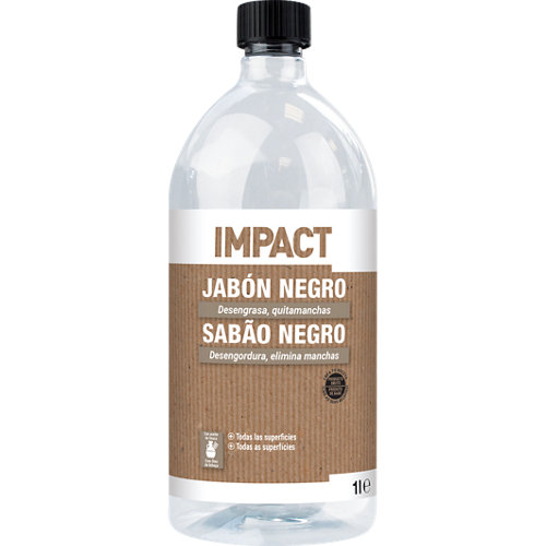 Jabón negro de limpieza impact 1l
