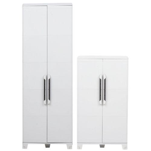 Conjunto armario resina alto xl y medio