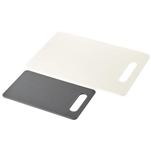 Pack de 2 tablas de cortar blanco y negro