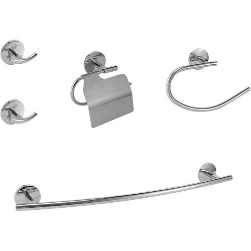 Set accesorios baño suite gris / plata