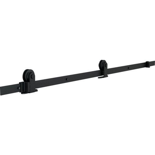 Guía puerta corredera industrial negro 180 cm