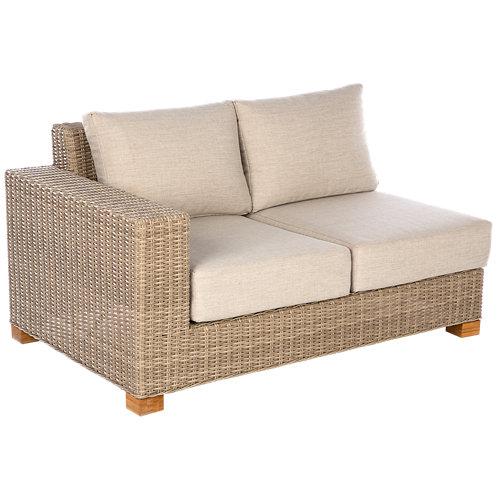 Banco/sofá de exterior de aluminio vancouver beige