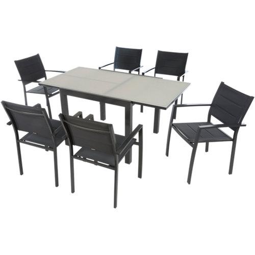 Conjunto de muebles de terraza lyra de aluminio para 2 comensales