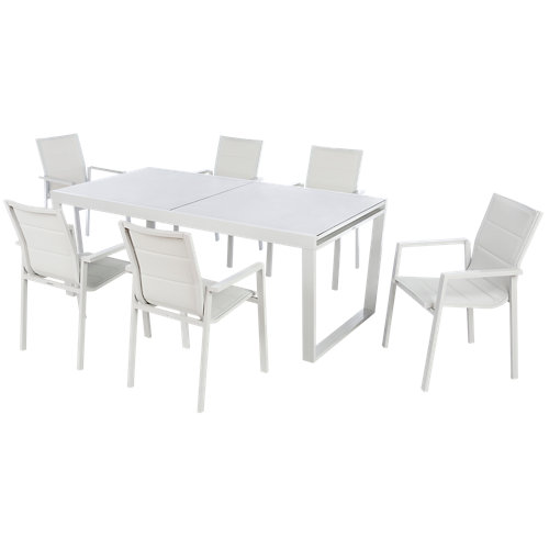 Conjunto de muebles de exterior upsilon extensible de aluminio para 6 comensales