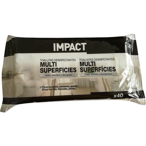 Pack de 40 toallitas desinfectantes multisuperfices impact