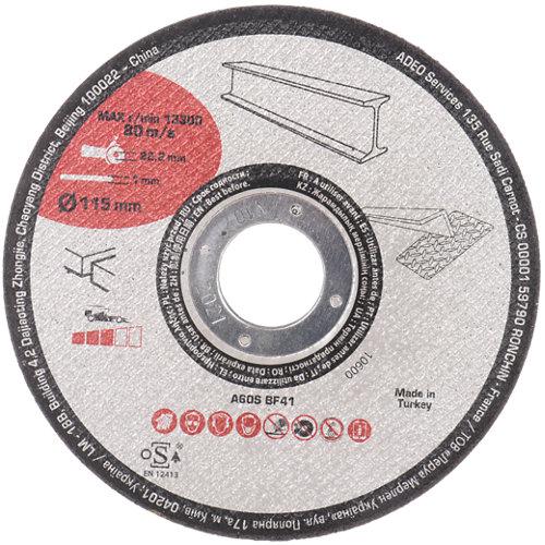 Pack de 10 discos de corte para metal de 115 mm