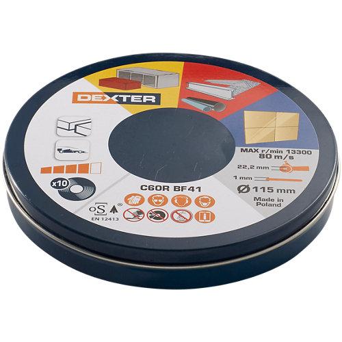 Disco de corte multimaterial dexter 115x1 mm
