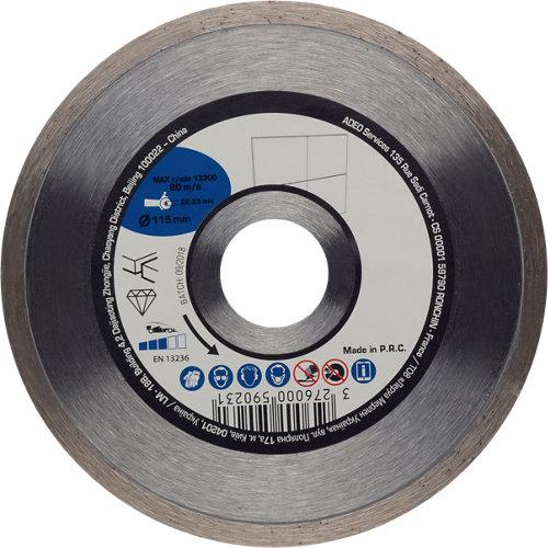 Disco de diamante para cerámica ø115 mm
