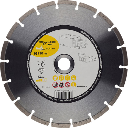 Disco de diamante para hormigón ø230 mm