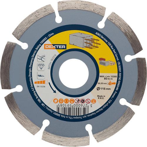 Disco de diamante para hormigón dexter ø115 mm