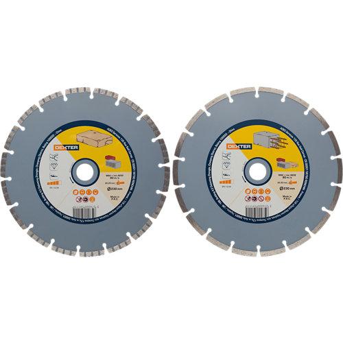 Set de 2 discos de diamante para construcción dexter ø230 mm