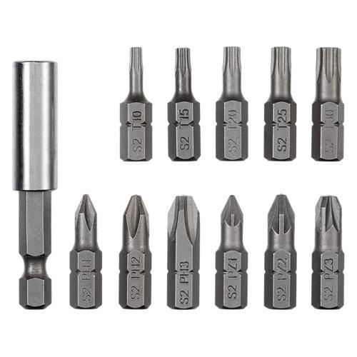 Juego de punta de atornillar de acero dexter para hasta 25 mm