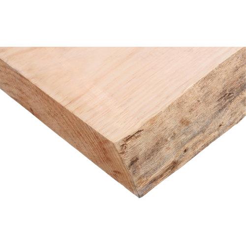 Tablero macizo de pino 30/50x200x6 cm 1 lado bruto