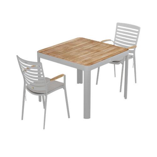 Conjunto de muebles de terraza portals de teca para 4 comensales