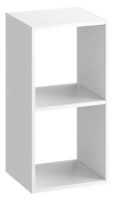 Estantería Kub 2x1 blanco SPACEO 70,4x36 cm