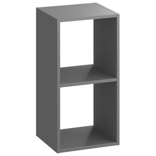 Estantería spaceo kub 2 cubos gris 70.4x36x31.7cm