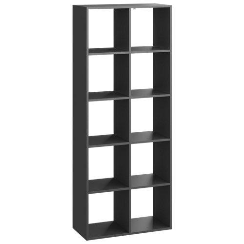 Estantería spaceo kub 10 cubos gris 173.6x70x31.7cm