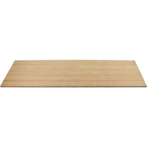 Encimera madera maciza bamboo bordes rectos 65x245x3,8 cm
