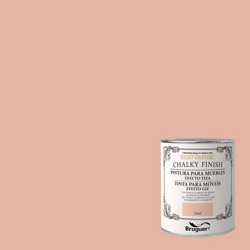 Pintura a la tiza chalky finish rust-oleum 750 ml coral