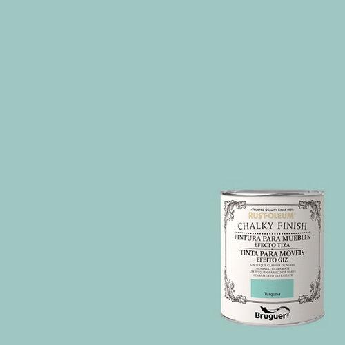 Pintura a la tiza chalky finish rust-oleum 750 ml turquesa