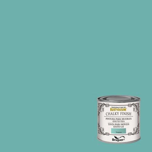 Pintura a la tiza chalky finish rust-oleum 125 ml turquesa