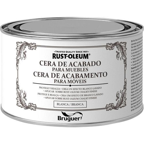 Cera de acabado para muebles rust-oleum 400 ml blanco