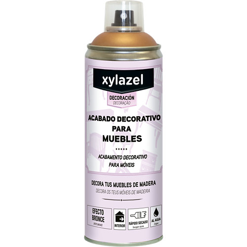 Acabado decorativo para muebles xylazel 400 ml bronce