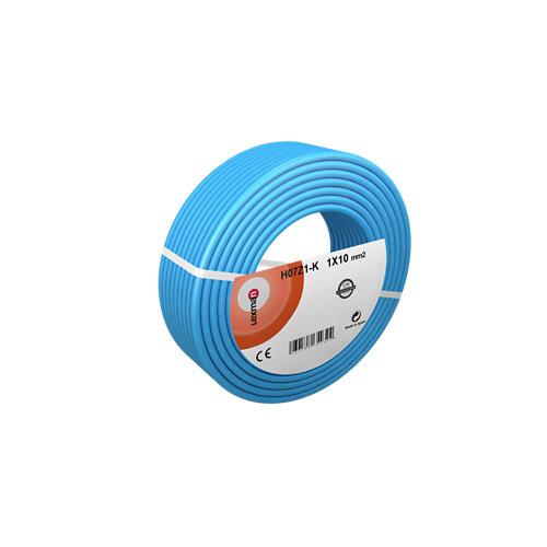 Cable eléctrico h07z1-k top cable 100 m azul de 10 mm2